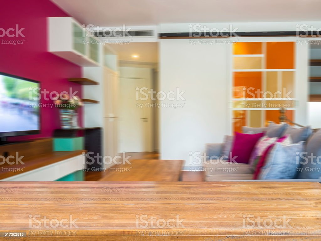 retro living room furniture. Rustic Tabletop With Moderm Vintage Living Room Blurry Background Royalty-free Stock Photo Retro Furniture