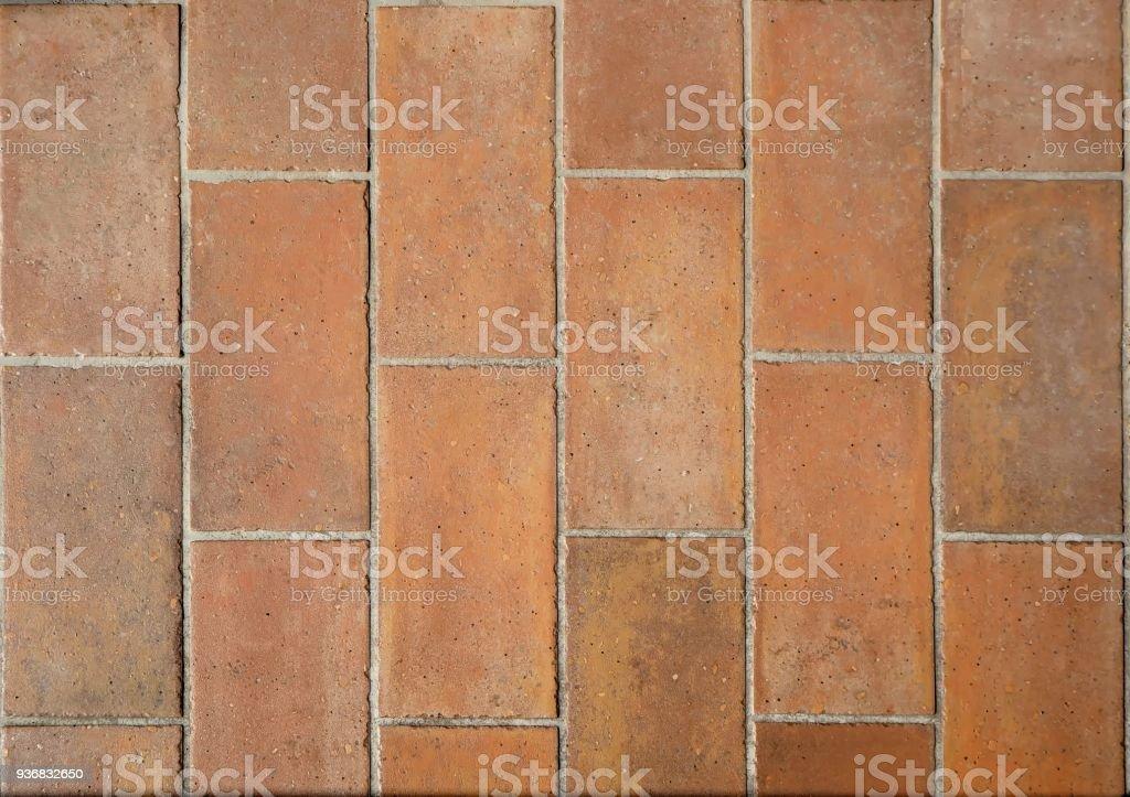 Rustic Terracotta Tiles For Balconies Or Outdoor Floors Stock Photo