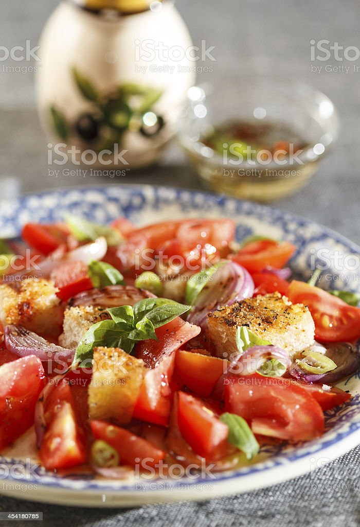 Rustic tomatoes salad royalty-free stock photo