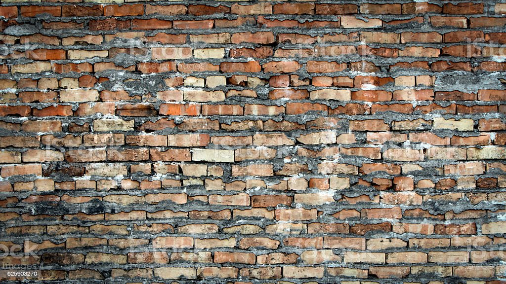 Rustic Vintage Antique Brick Wall Background Royalty Free Stock Photo
