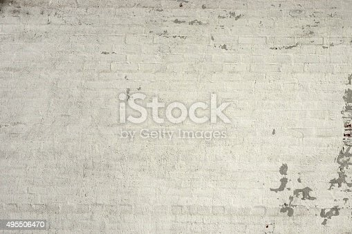 Rustic Vintage White Brick Wall Texture Stock Photo