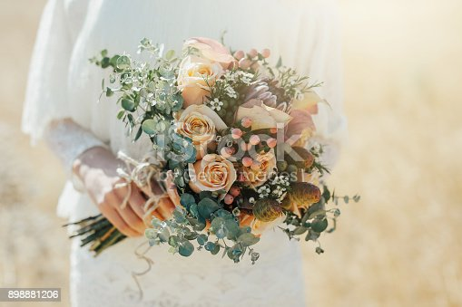 Rustic wedding bouquet