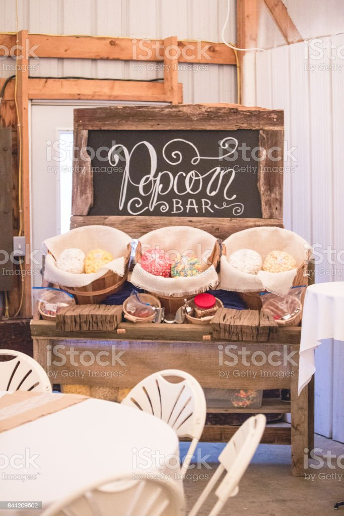 Rustic Wedding Reception Decor Stock Photo & More Pictures of Arts ...