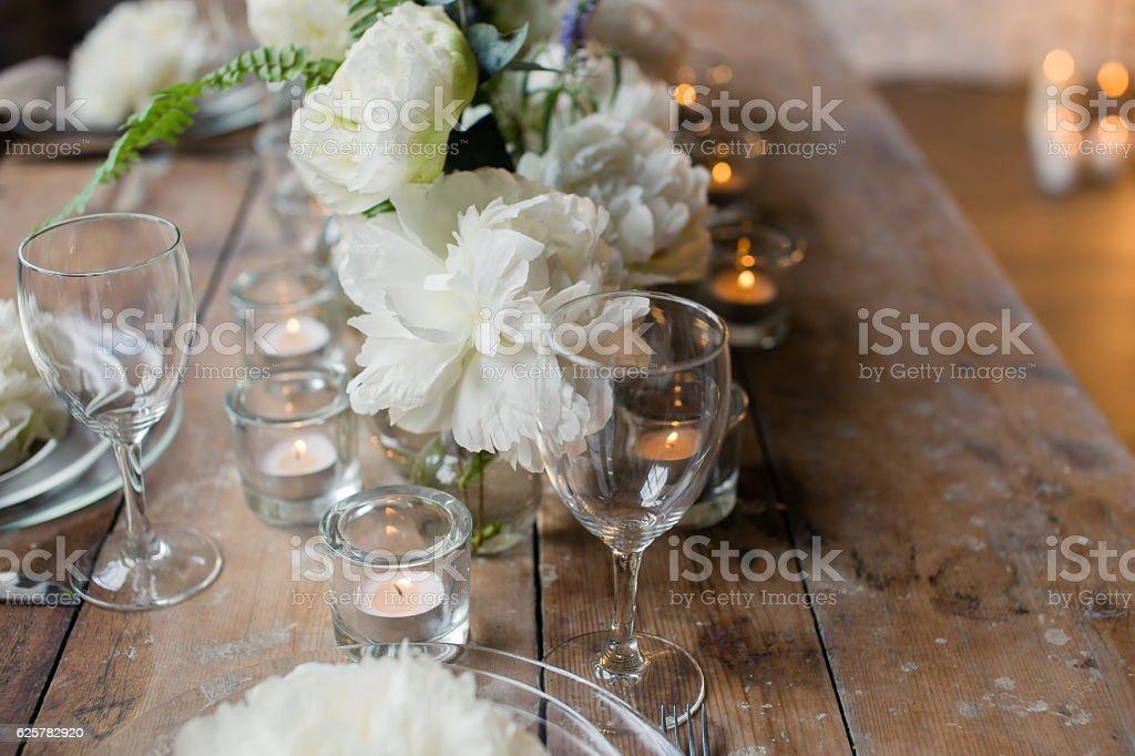 Rustic wedding table – Foto