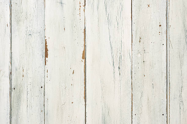 rustic white wooden background - patina stockfoto's en -beelden