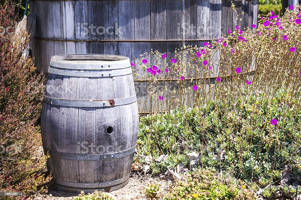 Rustic Wine Barrel royalty-free stock photo