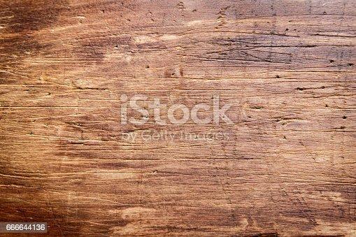 istock Rustic wooden cutting board 666644136