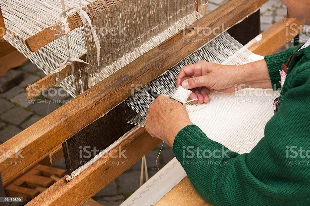 Rustic wooden loom stock photo