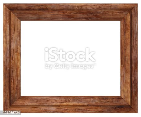 rustic wooden rectangular picture frame with bevel border stock photo more pictures of ancient. Black Bedroom Furniture Sets. Home Design Ideas
