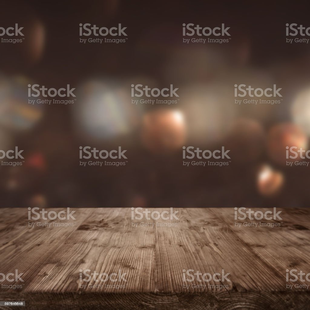 Rustic wooden table background – Foto