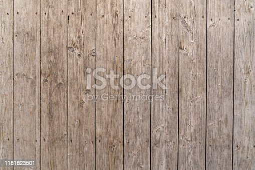 Abstract rustic surface, wooden table background. Rustic wall, made of wooden planks.