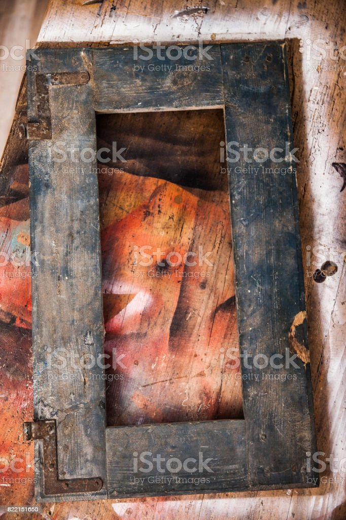 Rustic Wooden Window Frame From Directly Above Stock Photo Download Image Now Istock