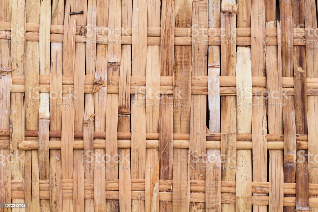 Rustic woven texture photo. Wicker wooden background. Rattan woven...