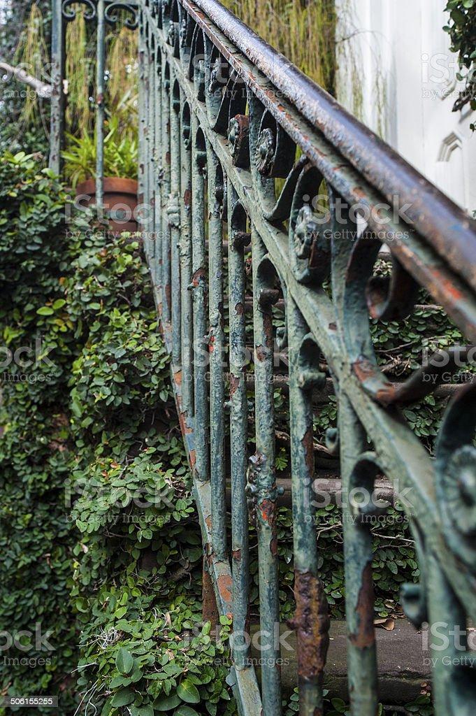 Photo libre de droit de Rustique Escalier En Fer Forgé Avec Son ...
