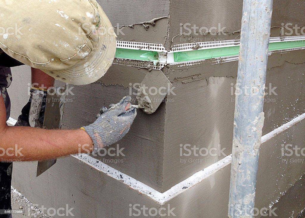 Rusticated facades stock photo
