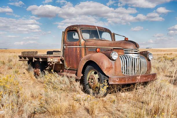 Rosten Farm Truck im Feld – Foto