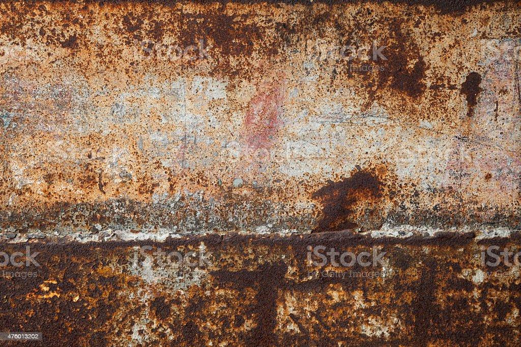 Rusting iron plate stock photo