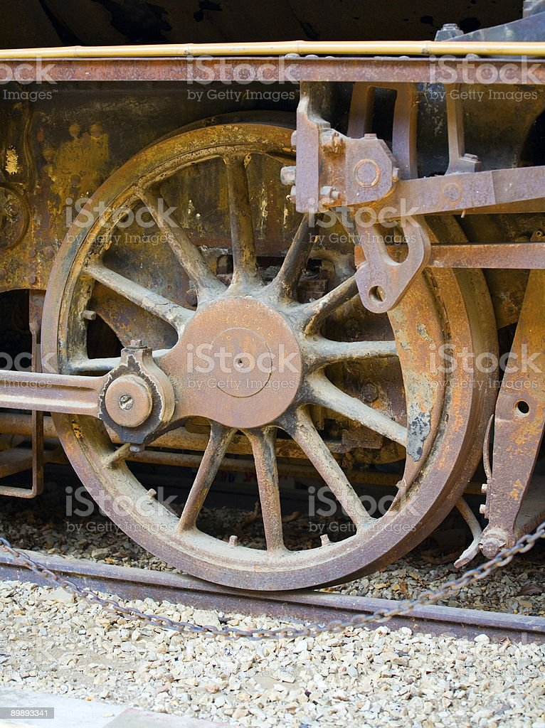 Rusting train wheel royalty-free stock photo