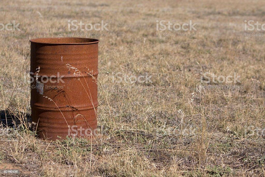 Rusty 44 Gallon drum royalty-free stock photo
