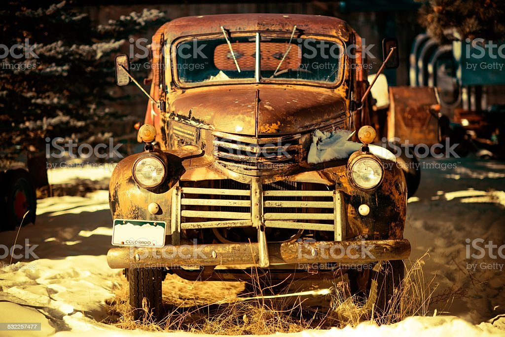 Rusty Aged Pickup Truck stock photo