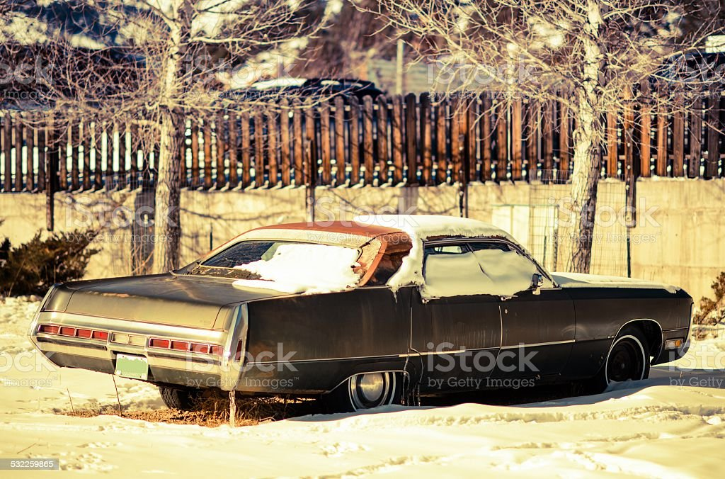 Rusty American Classic Car stock photo