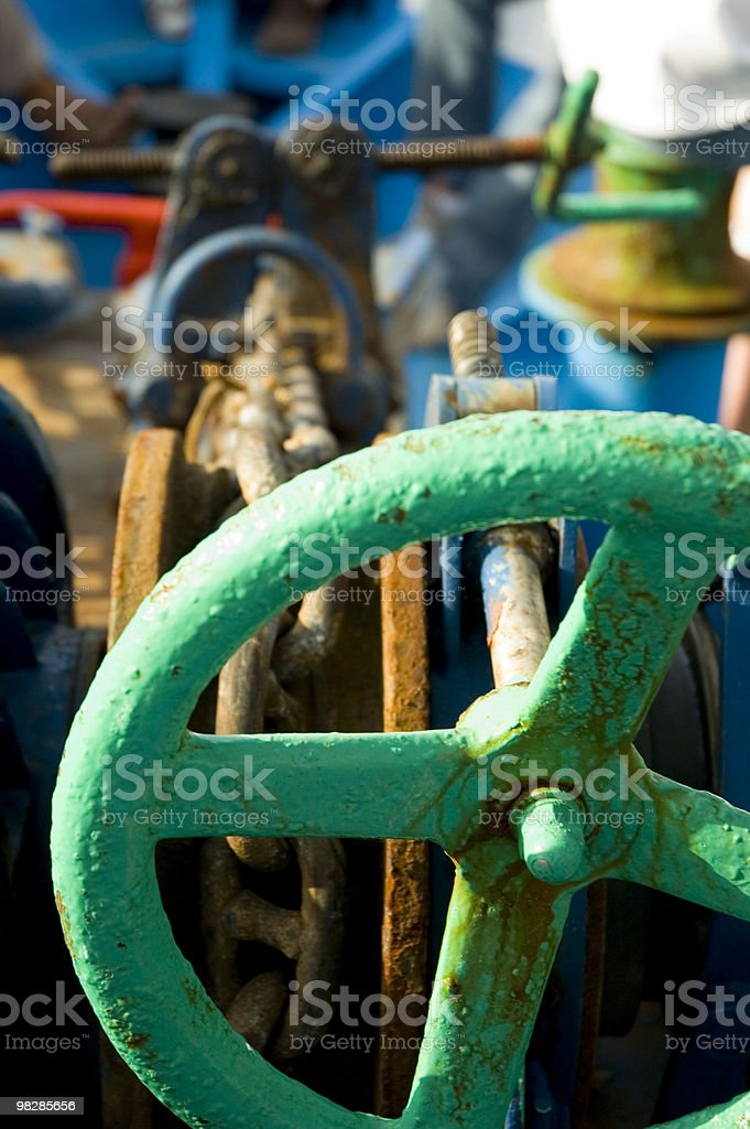 Rusty Anchor Winch royalty-free stock photo