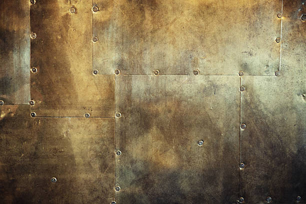 rusty and damaged metal background stock photo