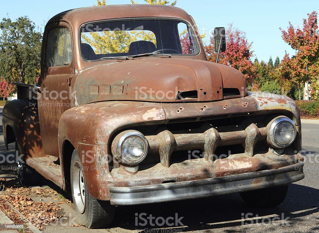 Rusty Antique Pick-up Truck royalty-free stock photo