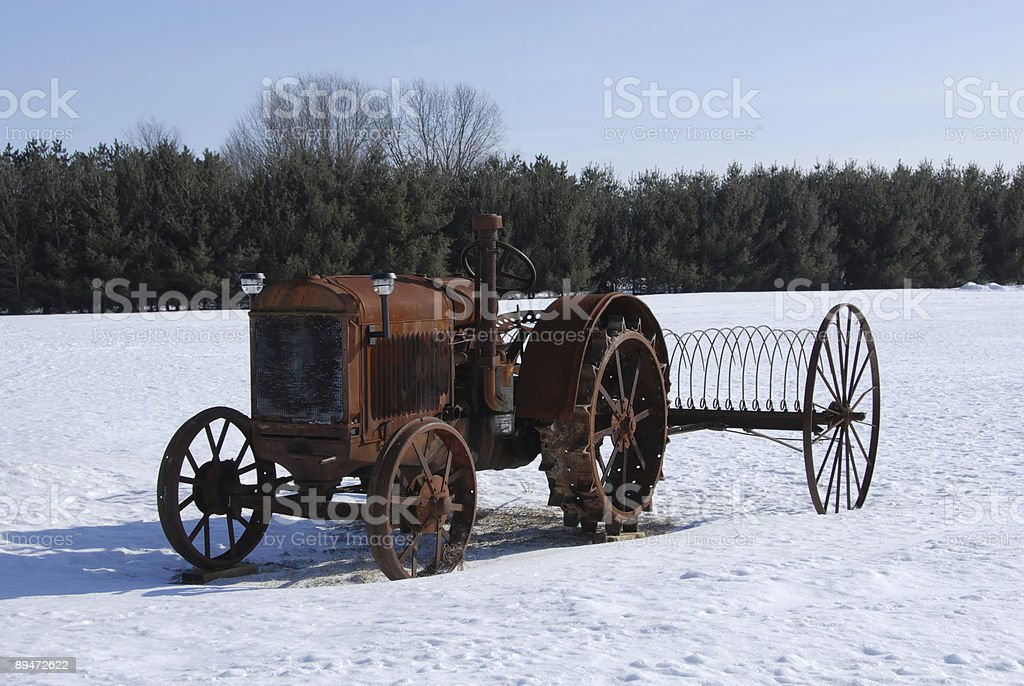 Rusty Antique Tractor royalty-free stock photo