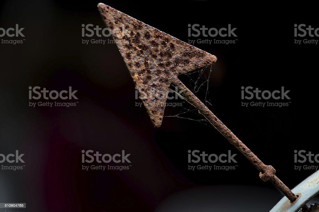Rusty Arrow stock photo