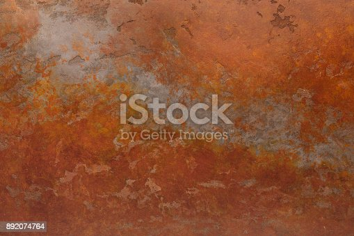 istock Rusty background with stains and scratches 892074764