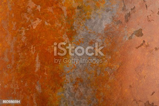 istock Rusty background with stains and scratches 892686594