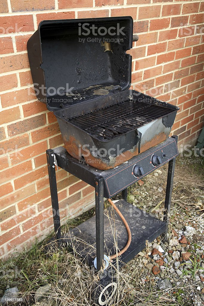 Rusty barbecue stock photo