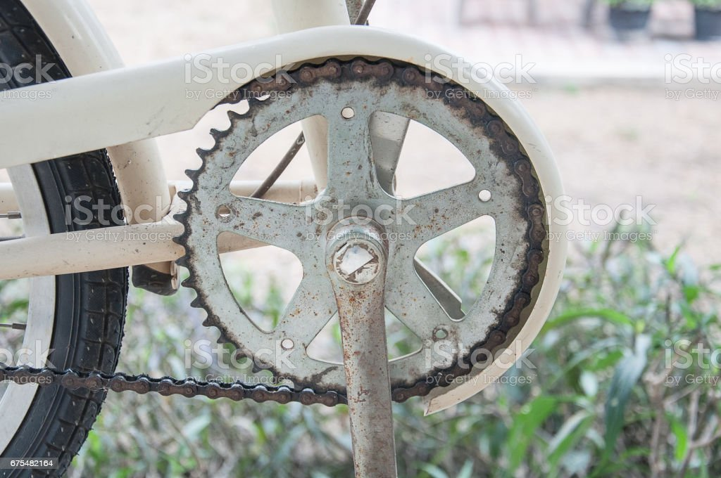 Rusty Chaîne de vélo photo libre de droits