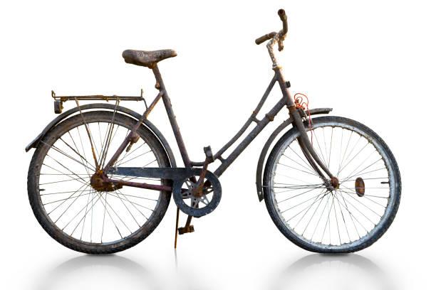 Rusty Fahrrad auf spärlichem Hintergrund, – Foto