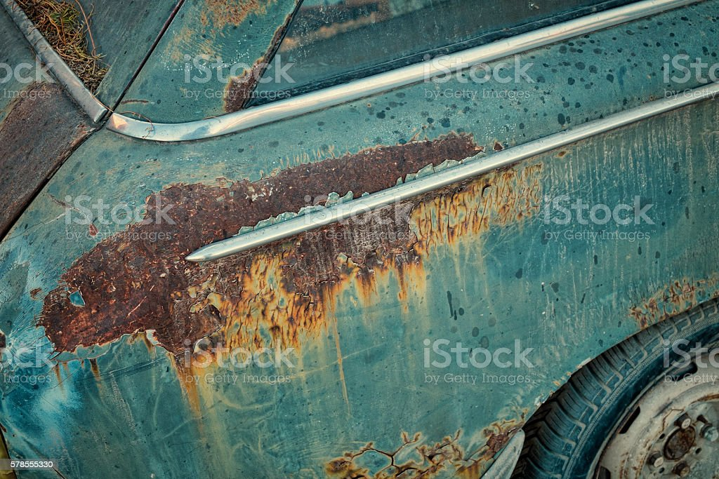 Rusty bodywork stock photo