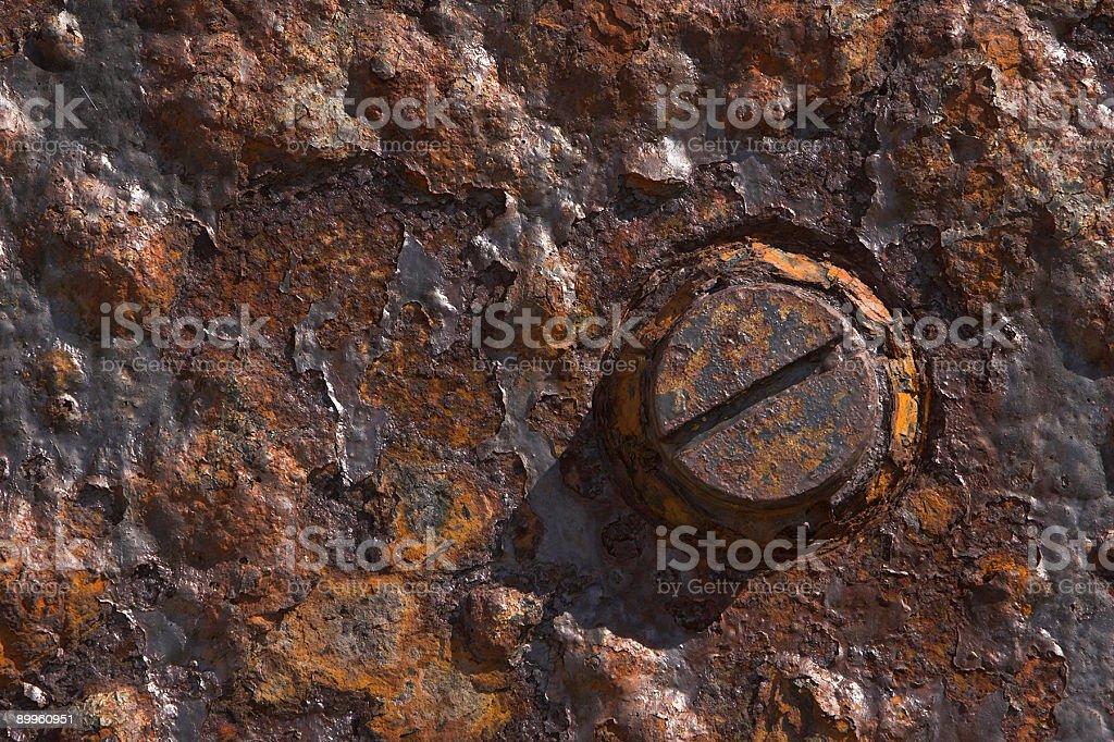 Rusty Bolt Head royalty-free stock photo
