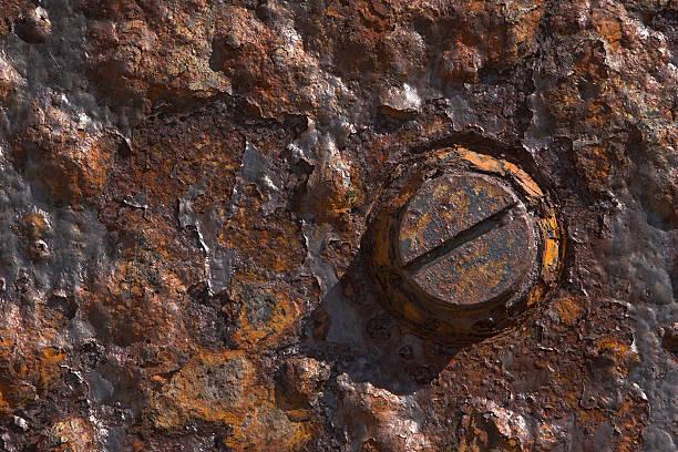 Rusty Bolt Head stock photo