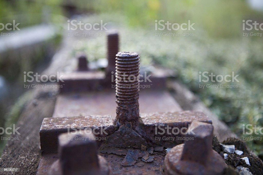Rusty bolt royalty-free stock photo
