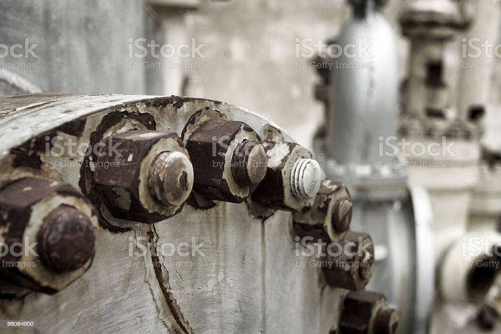 Rusty bolts and hexnuts royalty-free stock photo