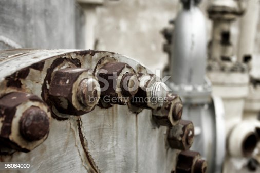 Rusty Bolts And Hexnuts Stock Photo & More Pictures of Abandoned