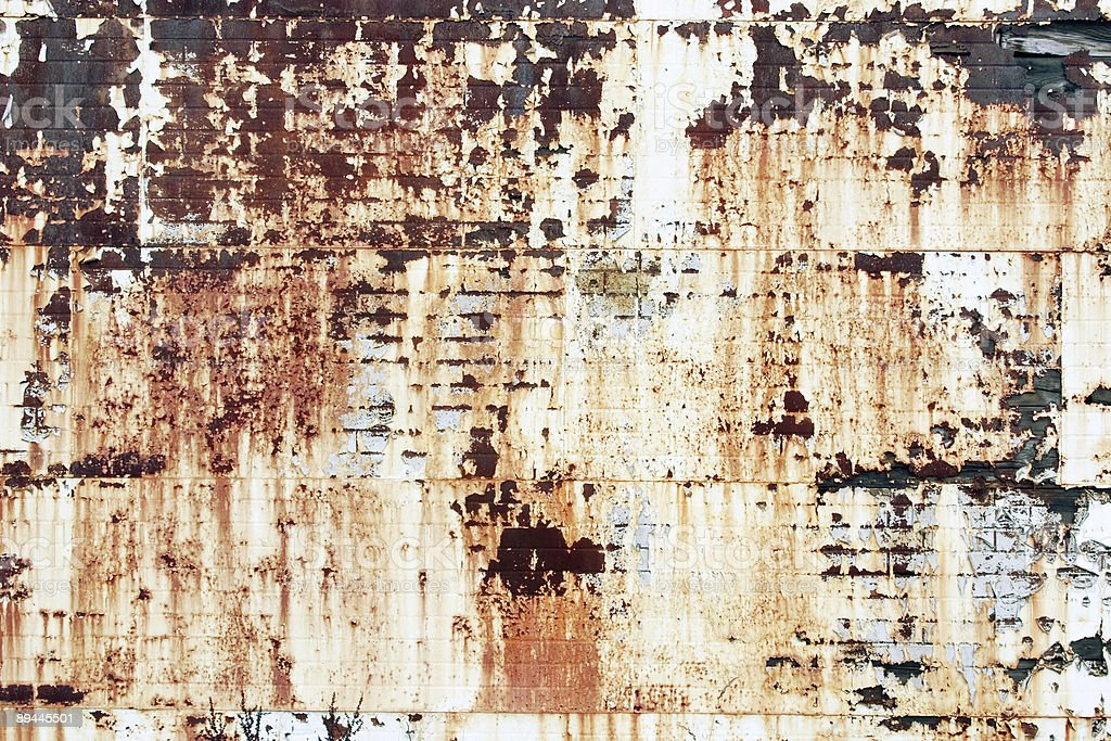 Rusty Brick and Metal Wall Texture royalty-free stock photo