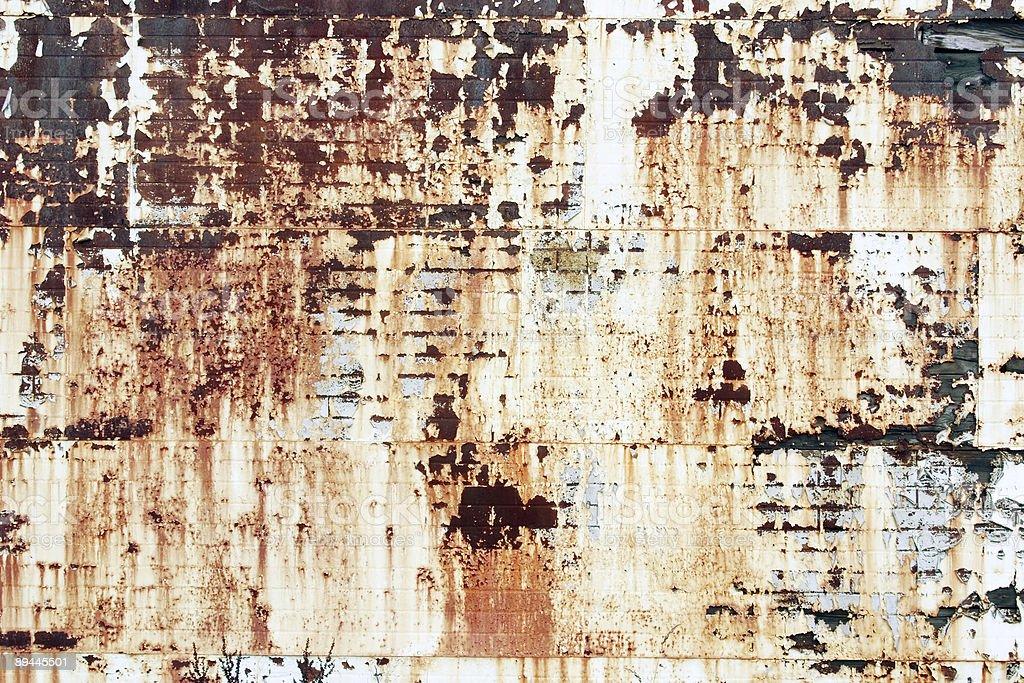 Rostige Ziegel Wand Textur und Metall Lizenzfreies stock-foto