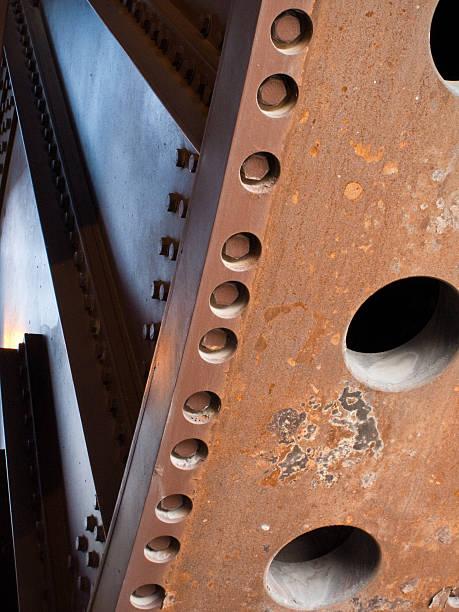 Rusty Bridge Gears stock photo
