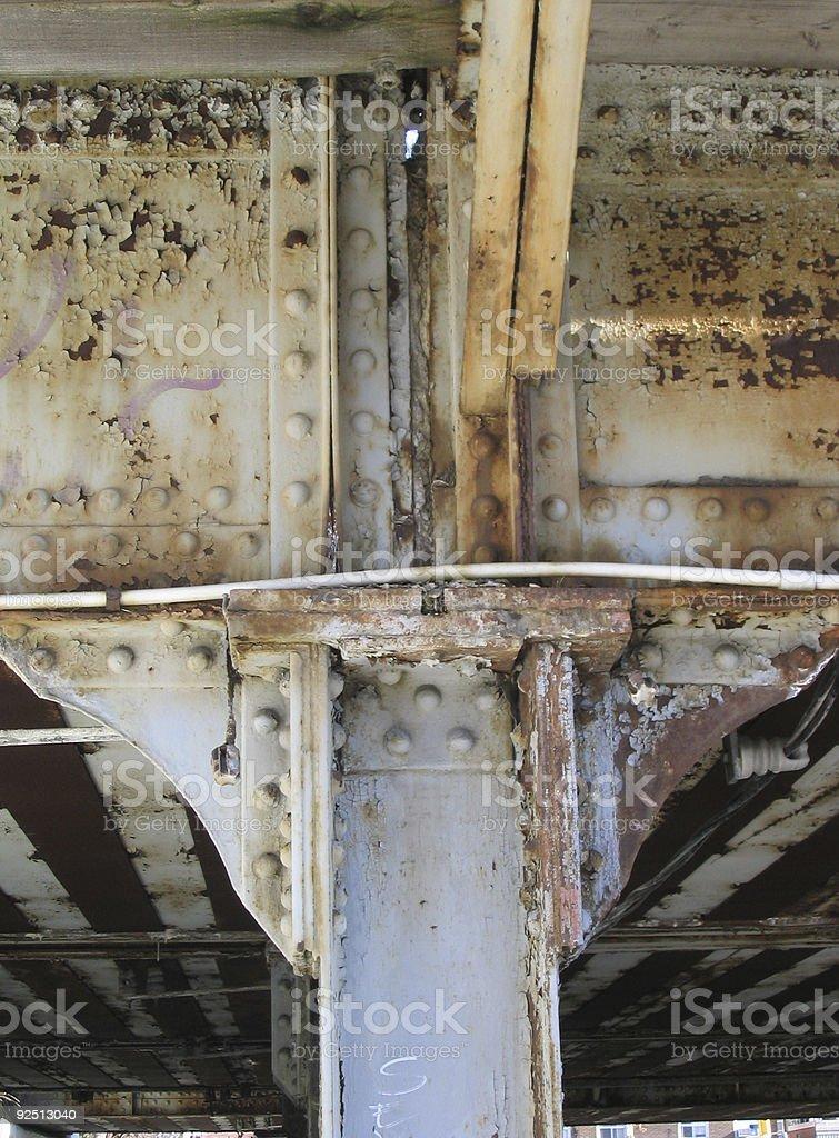 rusty bridge royalty-free stock photo