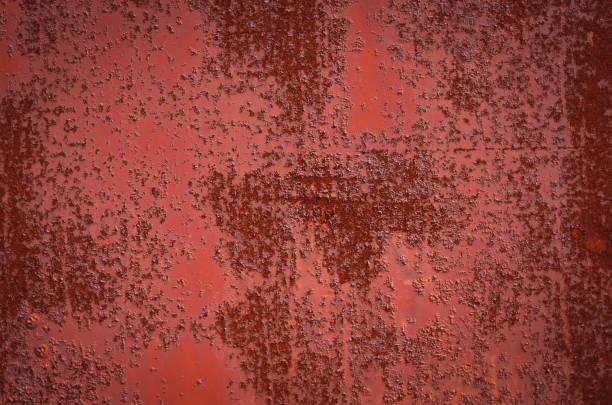 rostiges burgund rot blech. textur - rostrot stock-fotos und bilder