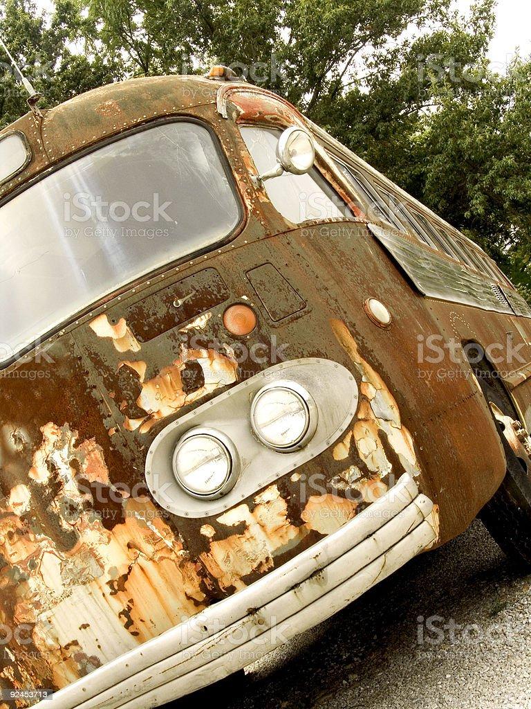 rusty bus three royalty-free stock photo
