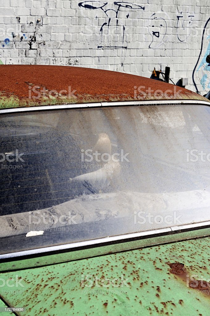 rusty car detail royalty-free stock photo