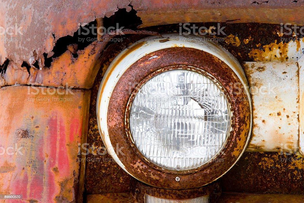 Rusty Car Headlight royalty free stockfoto
