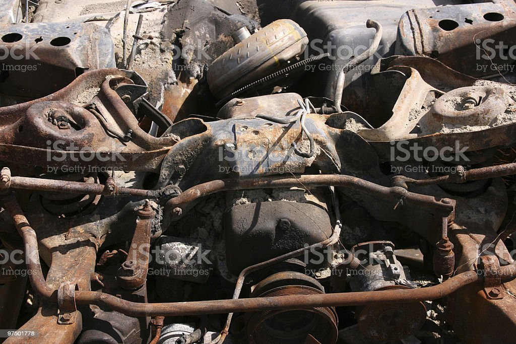 Rusty car parts royalty-free stock photo